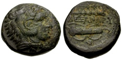 Ancient Coins - Kings of Macedon, Alexander III The Great Æ18 / Club and Bow Case