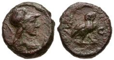 Ancient Coins - Roman Empire. Anonymous Æ Quadrans / S - C / Owl
