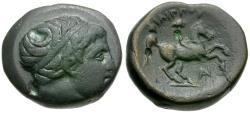 Ancient Coins - Philip II (359-336 BC) Æ17 / Youth on Horseback
