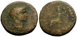 Ancient Coins - gF/F Trajan, Syria Gabala Æ22 / Tyche Seated