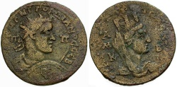 Ancient Coins - Gordian III. Cilicia. Tarsos Æ36 / Bust of Tyche