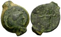 Ancient Coins - gF+/gF Ptolemaic Kings of Egypt, Ptolemy IX or Ptolemaios, Cyprus Mint Æ14 / Zeus