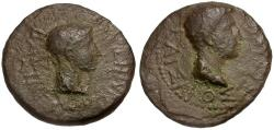 Ancient Coins - Augustus and Rhoemetalces I. Kings of Thrace Æ20