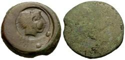 Ancient Coins - Sicily.  Akragas. Agrigento Æ Hemilitron / Herakles