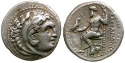 Ancient Coins - Kings of Macedon. Alexander III the Great (336-323 BC) Lifetime AR Drachm