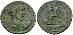 Ancient Coins - Philip I (AD 244-249). Phrygia. Metropolis Æ32 / Cybele