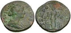 Ancient Coins - Faustina II (AD 147-175) Æ AS / Felicitas with Children
