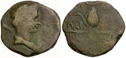 Ancient Coins - Kings of Mauretania. Juba II Æ26 / Headdress of Isis