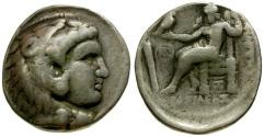 Ancient Coins - gF+/gF Kings of Macedon, Philip III Arrhidaios AR Tetradrachm / Herakles / Zeus