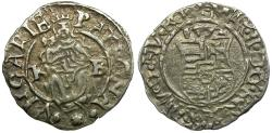 World Coins - Hungary. Ferdinand I AR Denier / Madonna and Child