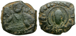Ancient Coins - Byzantine Empire.  Anonymous Class G. Attributed to Romanus IV Æ Follis  / Christ and Virgin