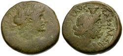 Ancient Coins - Hadrian. Judaea. Samaria Caesarea Maritima Æ25