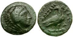 Ancient Coins - Kings of Macedon. Alexander III the Great. Lifetime issue Æ 1/2 Unit / Eagle