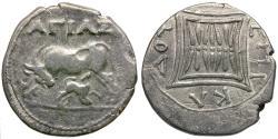 Ancient Coins - Illyria. Apollonia. moneyer Agias amd magistrate Epikadou AR drachm