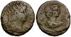 Ancient Coins - Nero. Egypt. Alexandria BI Tetradrachm / Bust of Alexandria