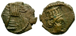 Ancient Coins - Kings of Parthia.  Gotarzes II Æ Chalkous / Tyche