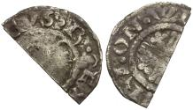 World Coins - Great Britain. Plantagenet Dynasty. Henry II (1158-1180) AR Penny. Short Cross type, class Ia1/Ia2 / Cut for Change
