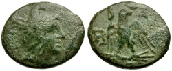 Ancient Coins - Kings of Macedon. Perseus Æ20 / Eagle