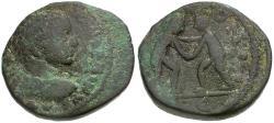 Ancient Coins - Elagabalus. Seleucis and Pieria. Laodicea ad Mare Æ19 / Wrestlers