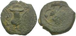 Ancient Coins - Judaea. Roman Procurators. Valerius Gratus (AD 15-26) Æ Prutah / Amphora