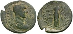 Ancient Coins - Philip II (AD 247-249). Mysia. Adramyteum Æ26 / Tyche