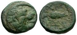Ancient Coins - Thrace.  Cherronesos Æ11 / Lion
