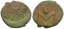 Ancient Coins - *Sear 1697* Byzantine Empire. Michael III (AD 842-867) Æ Follis
