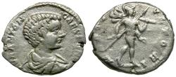Ancient Coins - Caracalla, as Caesar (AD 196-198) AR Denarius / Mars