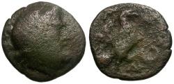 Ancient Coins - Elis. Olympia Æ18 / Eagle