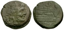 Ancient Coins - after 211 BC - Roman Republic. Anonymous Æ Semis