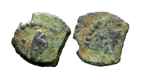 Ancient Coins - VF/F Herod I The Great AE Lepton / Graven Image