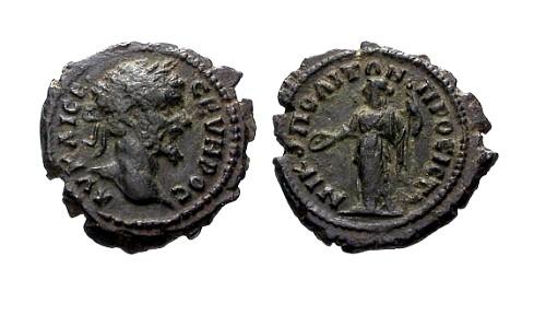 Ancient Coins - VF/VF Septimius Severus Moesia Inferior Nicopolis ad Istrum AE19 / Hera