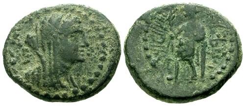 Ancient Coins - aVF/aVF Phoenicia Marathus AE23 / Female bust / Marathus