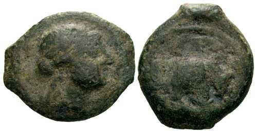 Ancient Coins - F+/F+ AE 14 of Massalia Gaul / Bull