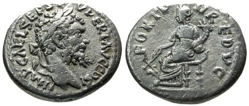 Ancient Coins - aVF/aVF Septimius Severus AR Denarius / Fortuna