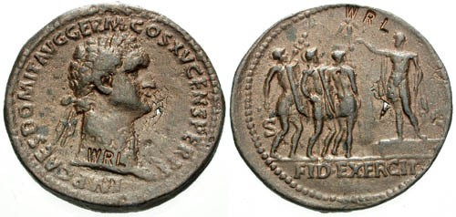 Ancient Coins - Modern Museum Copy of medallion of Domitian