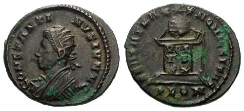 Ancient Coins - VF/VF Constantine II AE3 / Left Radiate Bust