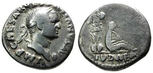 Ancient Coins - gF/aVF Vespasian AR Denarius Judea Capta Jewess
