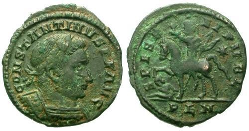 Ancient Coins - VF/VF Constantine I the Great AE Follis / Emperor on horseback