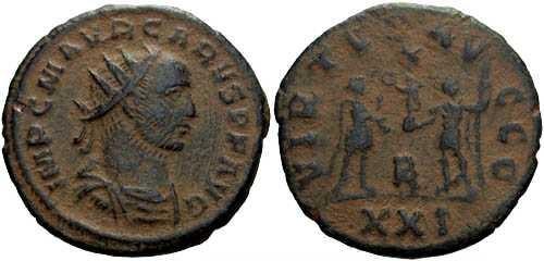 Ancient Coins - VF/VF Carus AE Antoninianus / Virtus