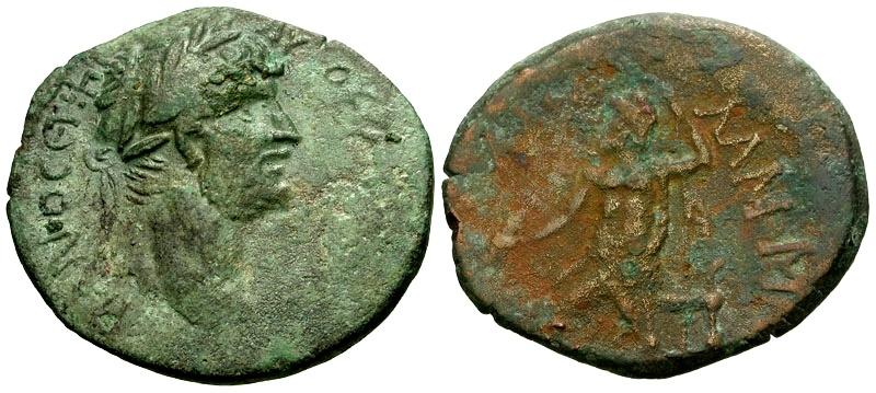 Ancient Coins - Hadrian, Cilicia Lamos Æ27 / Zeus Seated
