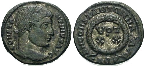 Ancient Coins - EF/EF Constantine the Great / Votive Silvering