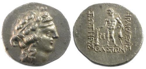Ancient Coins - EF/EF Thrace Islands off Thasos AR Tetradrachm