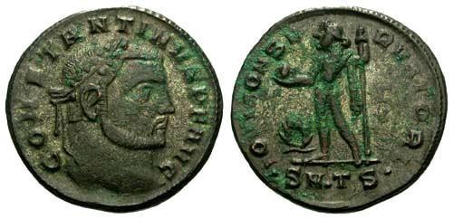 Ancient Coins - aVF/aVF Constantine the Great Silvered Follis / Jupiter