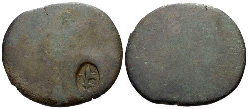 Ancient Coins - Tiberius Dupondius with Counterstamp