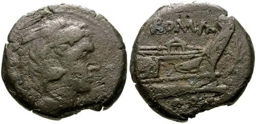 Ancient Coins - gF/aVF 206-195 BC Roman Republic AE Quadrans / Thunderbolt Series GOODMAN COLLECTION