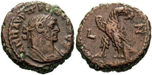 Ancient Coins - VF/VF Probus Alexandrian AE Tetradrachm / Eagle