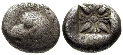 Ancient Coins - F/F Ionia Miletos AR 1/12 Stater / Lion