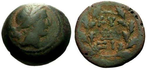 Ancient Coins - aVF/aVF Mysia Cyzicus AE19 / Kore Soteira