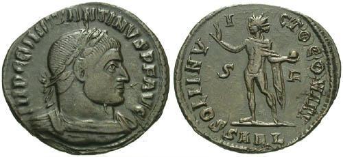 Ancient Coins - aVF/aVF Constantine the Great Follis / Sol / R5